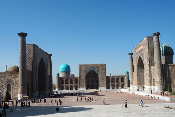 世界遺産 サマルカンド「レギスタン広場」